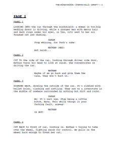 Teaser of Scene 1 as Comic Script