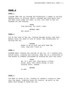 Teaser of Scene 1 as Comic Script